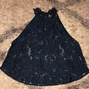 Free people lace tank top size Small